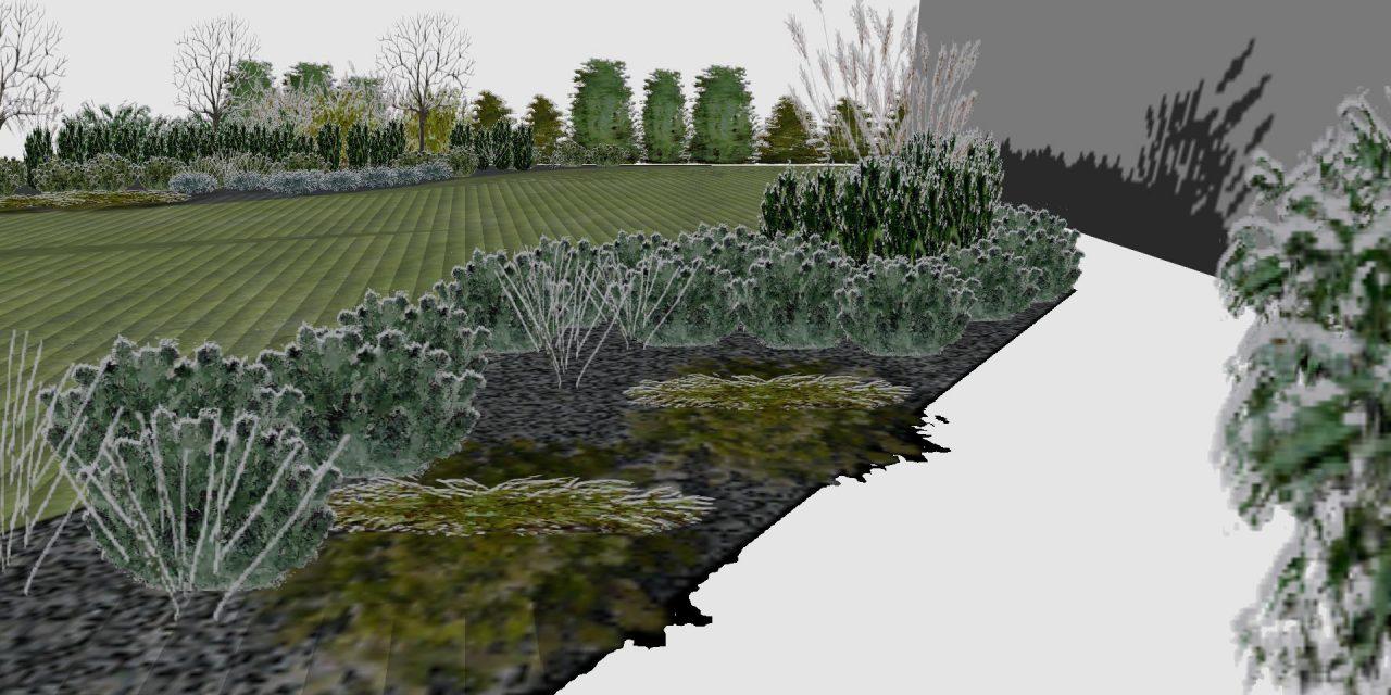 Widok na ogród - zima